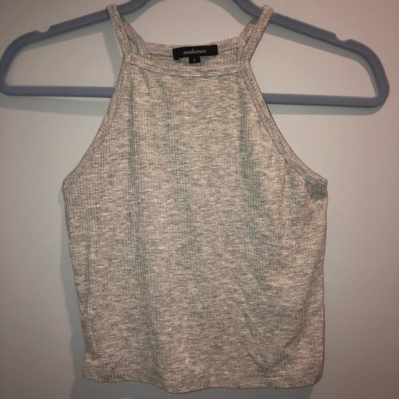 Ambiance Tops - Women's cropped halter tank